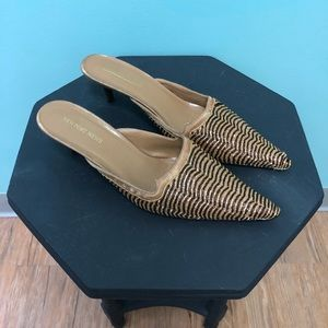 Coldwater Creek Newport News Gold Beaded Mules